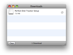 Downloading the Perfect Diet Tracker for Mac OS X