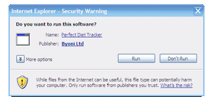 Microsoft Windows security warning (App should be signed by 'Hayley Henshaw')