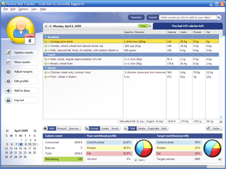 Perfect Diet Tracker for Linux full screenshot